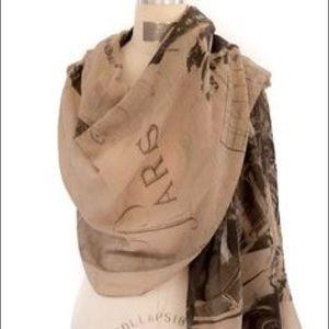 Accessories - Lightweight Paris print scarf